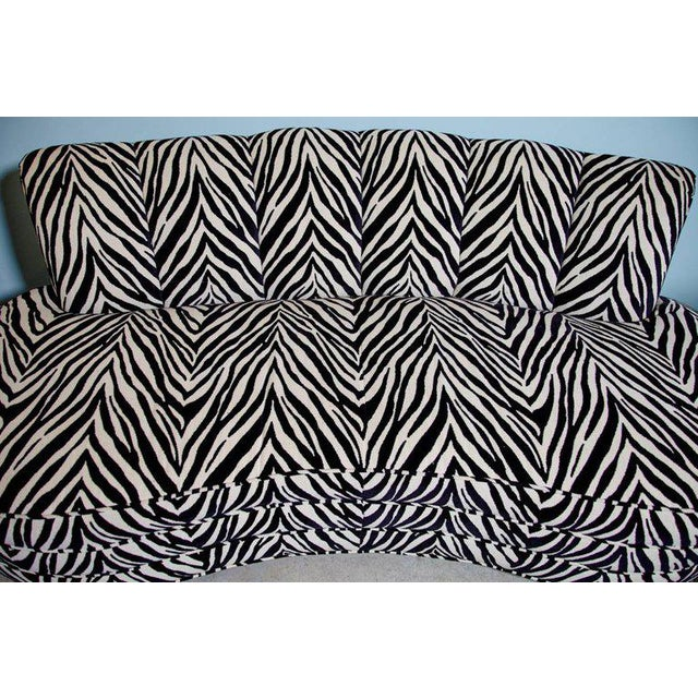 Custom Midcentury Kagan Style Zebra Pattern Sofa For Sale - Image 5 of 7