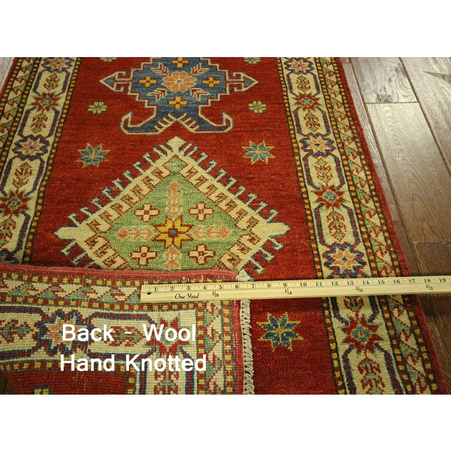 "Shirvan Red Kazak Runner Rug - 2'8"" x 9'6"" - Image 10 of 10"