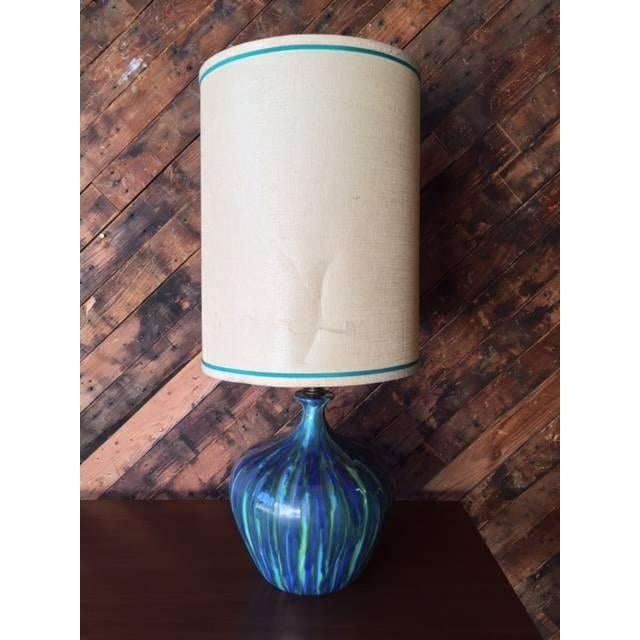 Mid-Century Ceramic Drip Glaze Lamp - Just 1 Available - Image 6 of 6