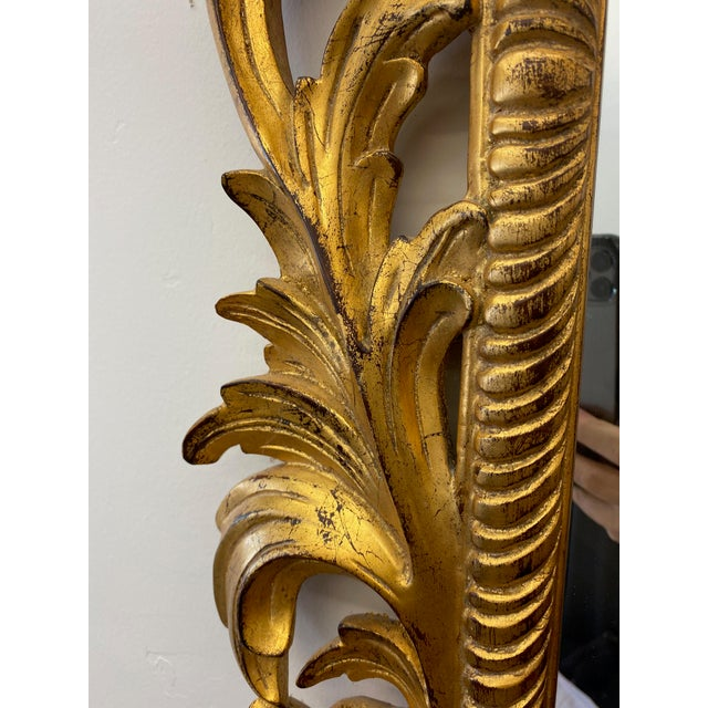 Vintage Harrison and Gil Gilded Chinoiserie Mirror For Sale - Image 4 of 7