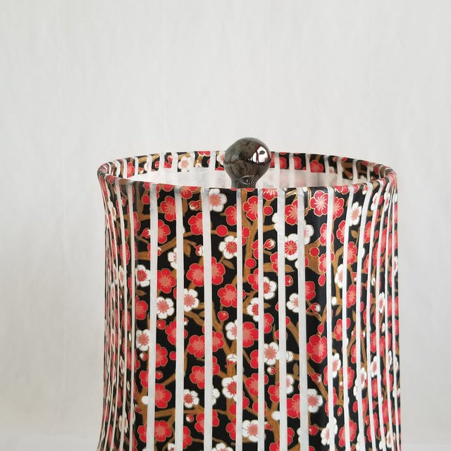 Contemporary Black Ceramic Table Lamp For Sale - Image 4 of 5