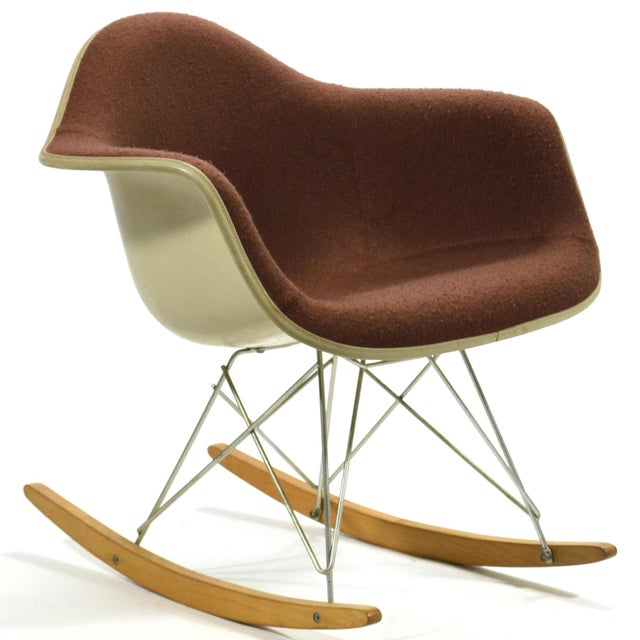 """Eames """"Baby Rocker"""" Rar by Herman Miller with Alexander Girard Upholstery For Sale - Image 11 of 11"""