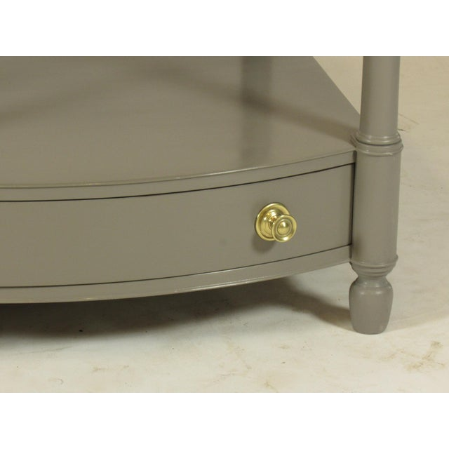 Baker Furniture Company 1950s Empire Baker FurnitureGray Lacquer End Tables - a Pair For Sale - Image 4 of 8