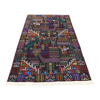 Afghan Pictorial Baluch Rug For Sale