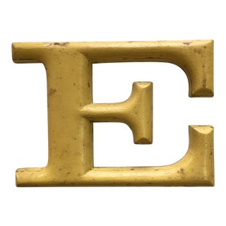"1940s French Letter ""E"" Sign For Sale"