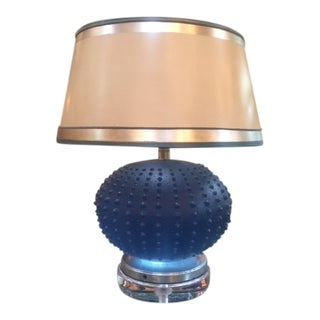 1960s French Art Glass Spiky Vase Lamp For Sale