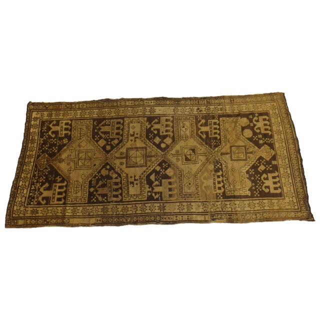 "Antique Russian Akstafa Rug - 7'1"" x 3'5"" For Sale In New York - Image 6 of 6"