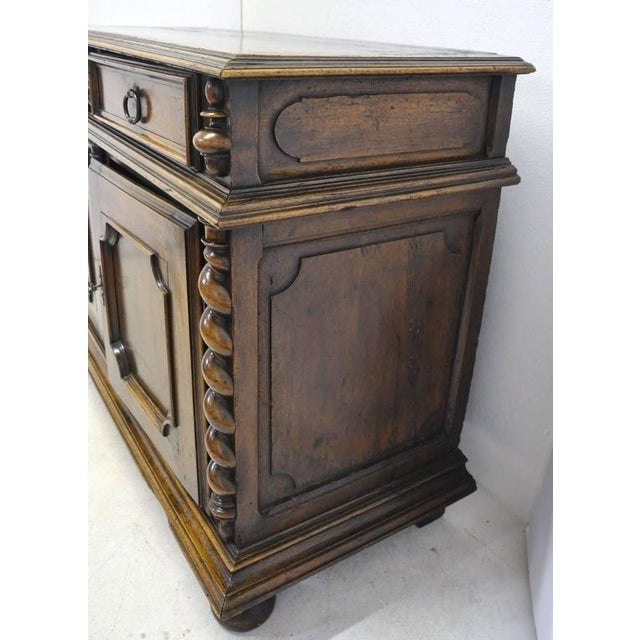 Mid 18th Century French Louis XIII Carved Walnut Buffet For Sale - Image 5 of 8