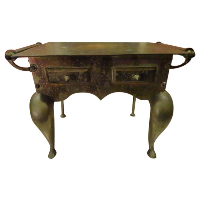 Small Brass Side Table - Image 1 of 4