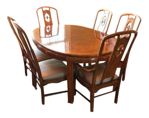 Thomasville Chinoiserie Style Dining Set   Set Of 7
