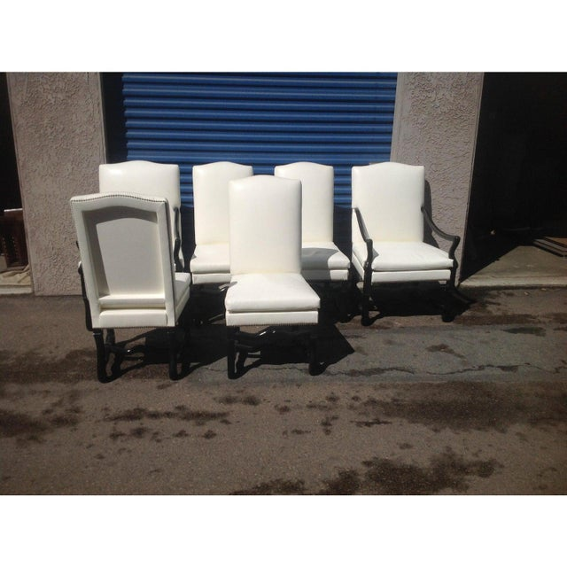 Italian Tuscan Style Dining Chairs - Set of 6 For Sale - Image 3 of 5