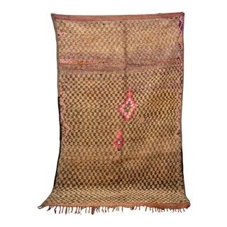 "Boujad Vintage Moroccan Rug, 6'2"" X 9'6"" For Sale"