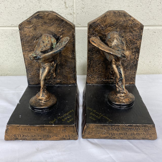 Rolls Royce Flying Lady Bookends - a Pair For Sale - Image 13 of 13