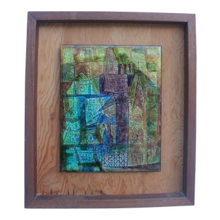 Cityscape Cubist Glaze Wall Art By F. Cole For Sale