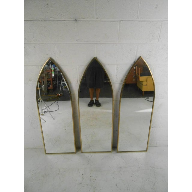 Mid-Century Arch Mirrors - Set of 3 For Sale - Image 9 of 10