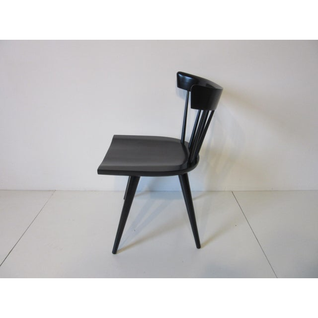 Mid 20th Century Paul McCobb Planner Group Black Maple Spindle Back Dining Chairs - Set of 4 For Sale - Image 5 of 8
