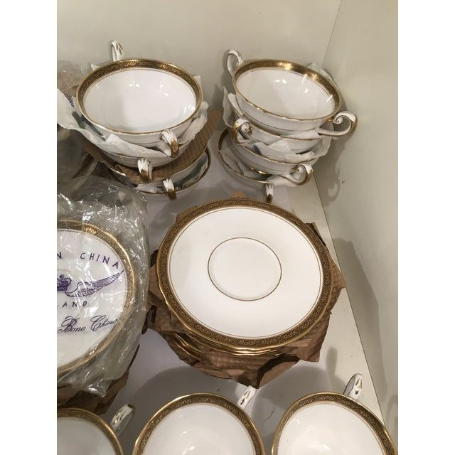1900 - 1909 Royal Tuscan Fine Bone China 24k Gold Plated Trim and Black Trim Tableware For Sale - Image 5 of 7