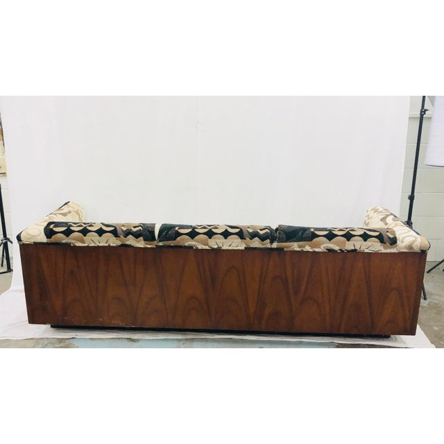 Mid Century Modern Wood Framed Sofa For Sale In Raleigh - Image 6 of 13
