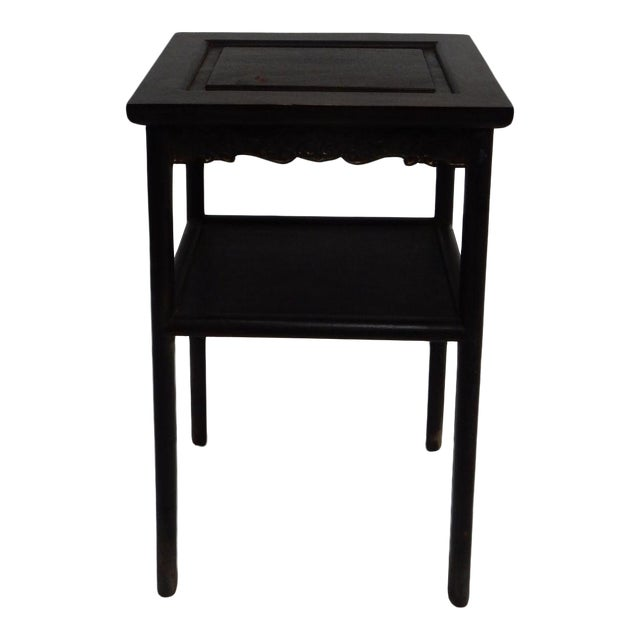 Antique Chinese Zitan Two-Tier Wood Side Table For Sale
