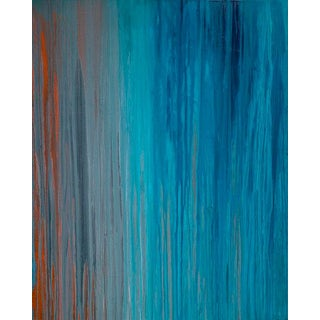 Teodora Guererra, 'Drenched in Teal' Painting, 2016 For Sale
