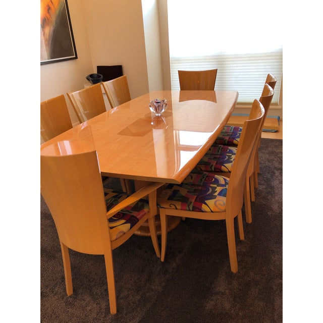 Italian Modern Excelsior Designs Dining Set 9 Pieces Chairish