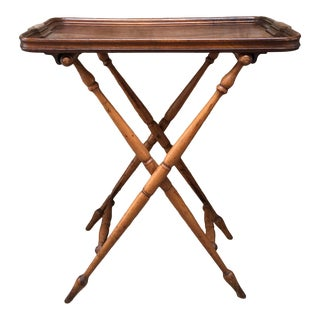 Antique Late 19th Century English Butler's Tray Table For Sale