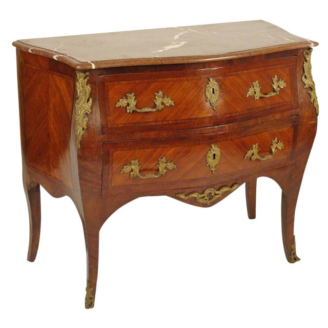Late 19th Century Louis XV Style Bombe Commode For Sale