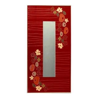 1970sVintage Pop Art Floral Resin Framed Mirror