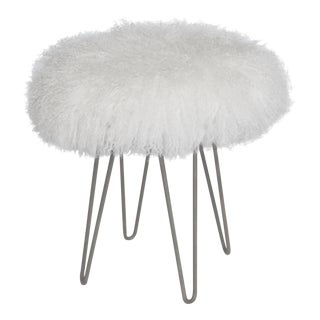 Bright White Curly Hairpin Stool For Sale