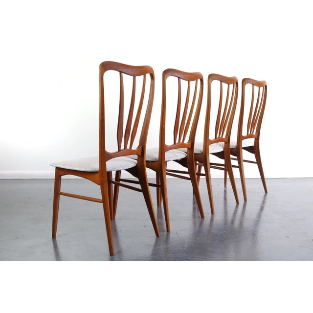 Mid-Century Modern 1960s Vintage Koefoeds Hornslet 'Ingrid' Chairs- Set of 4 For Sale - Image 3 of 8