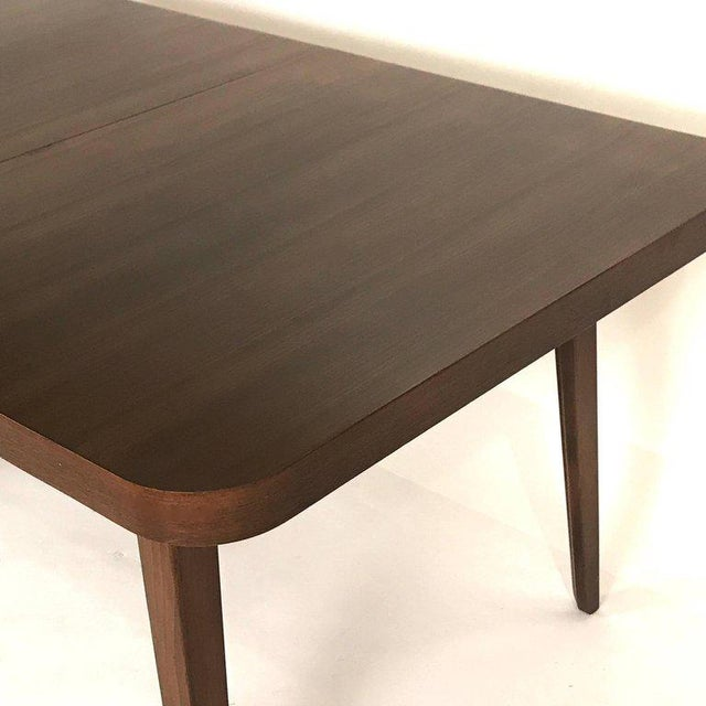 Drexel Stunning Midcentury Edward Wormley for Drexel Walnut Extension Dining Table For Sale - Image 4 of 11