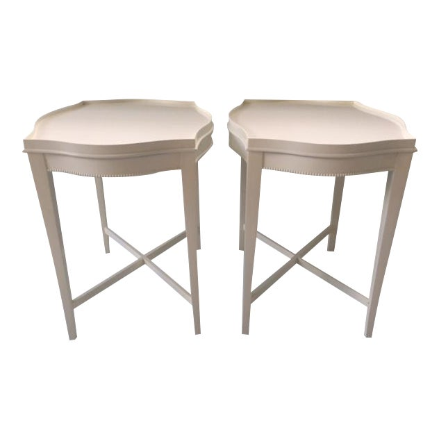 Vintage Hollywood Regency Side Tables - A Pair - Image 1 of 10