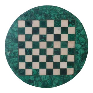 Malachite & Marble Chess Board For Sale