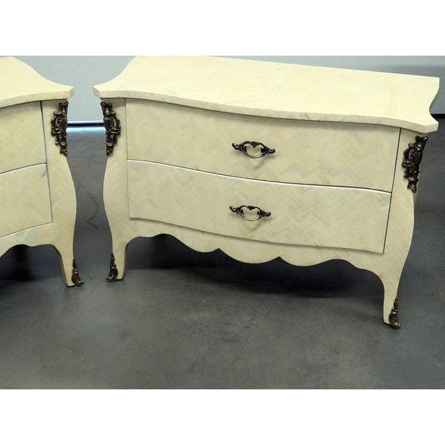 Mid-Century Modern Pair of Enrique Garcia Commodes For Sale - Image 3 of 11