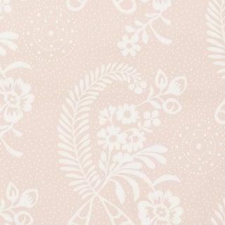 Schumacher Millicent Wallpaper in Rose For Sale