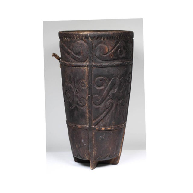 Early 20th century Phillipino Betel nut wood vessel, circa 1920-1940.