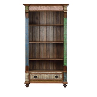 Distressed Reclaimed Wood Bookcase
