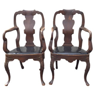 20th Century Chippendale Dining Yoke Chairs - a Pair For Sale