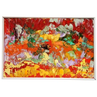 1991 Arnold Schreibman Abstract Oil Painting