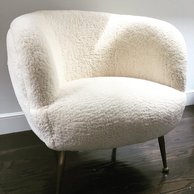 Modern Scandinavian Authentic Shearling Chair For Sale In San Francisco - Image 6 of 6