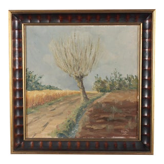 Fruit Tree in Winter Oil Painting For Sale