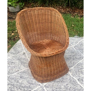 1970s Vintage Wicker Chair Preview