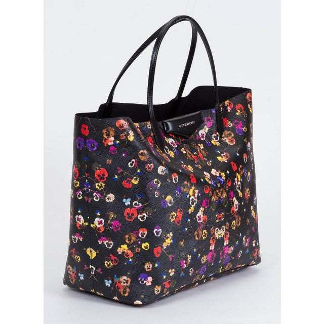 e186dfde0b Givenchy brand new large flower antigona shopper. Saffiano leather  imitation with multicolor flower pattern.
