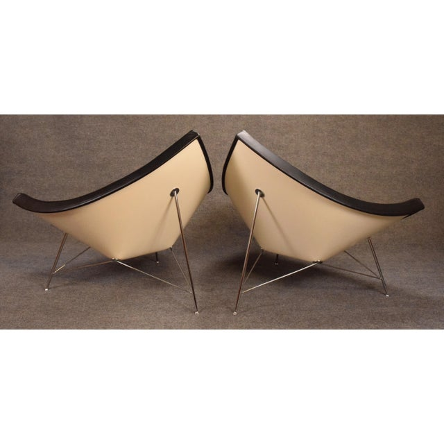 "Animal Skin Vintage George Nelson for Vitra ""Coconut"" Chairs - a Pair For Sale - Image 7 of 13"