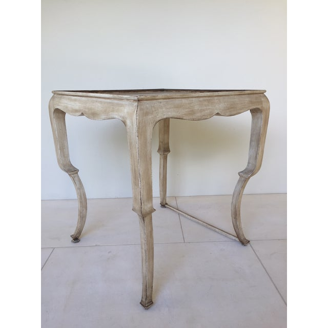 This is a beautiful little Nancy Corzine side table that would brighten up any room with its elegant style. It has seen...