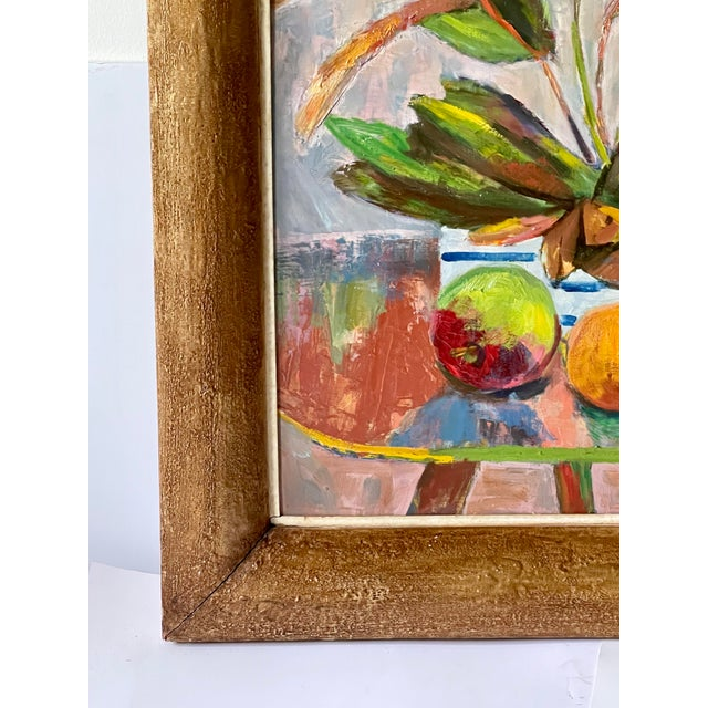 Midcentury Botanical Still Life Painting For Sale In Atlanta - Image 6 of 12