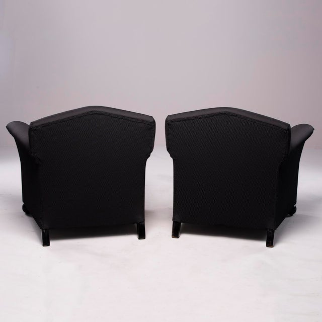 French Art Deco Vellum Edged Club Chairs - a Pair For Sale In Detroit - Image 6 of 12