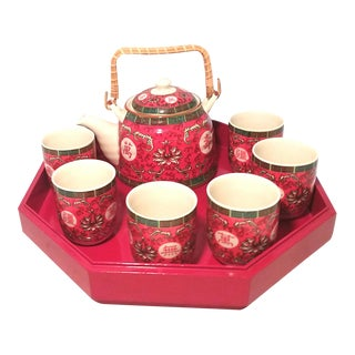 Chinese PorcelainTea Service - 10 Pieces