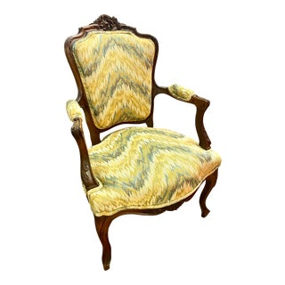 19th Century French Louis XV Style Accent Chair For Sale