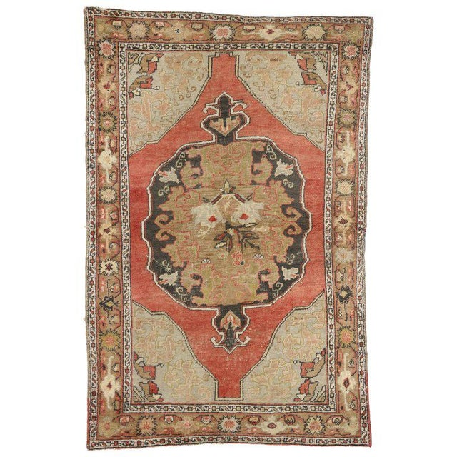 20th Century Turkish Oushak Rug For Sale In Dallas - Image 6 of 6